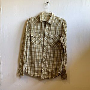 BANANA REPUBLIC SLIM FIT SNAP CLIP BUTTON SHIRT M